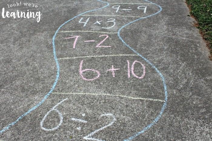 Math Chalk Game