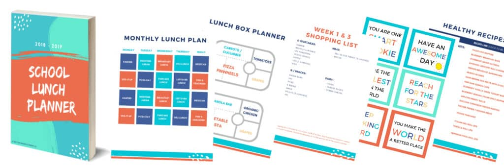 Kid's school lunch ideas. Healthy and nutritious lunch ideas your kids will love. Take the guess work out of planning, shopping and packing school lunches with the School Lunch Planner!