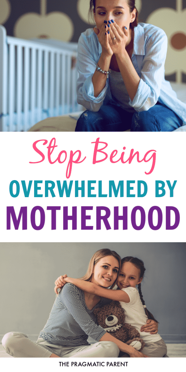 5 Instant ways to stop being overwhelmed by motherhood and stop the stress spiral. Specific steps to take when you feel overwhelmed by motherhood. #overwhelmedbymotherhood #happiermom #stressedmom #overwhelmedmom #dailyroutineforkids #stressbustingtips #happymom