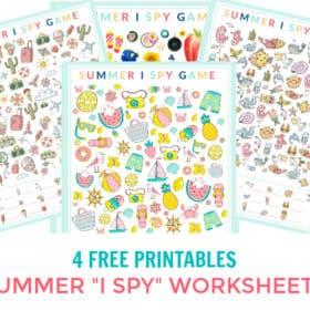 Summer I Spy Printable Game Sheets (4 Free Sheets)