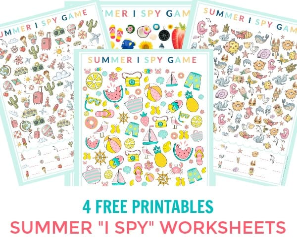 photograph regarding I Spy Printable referred to as Summer season I Spy Printable Recreation Sheets - 4 Free of charge Printable