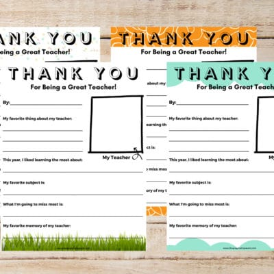 Need a cute teacher appreciation gift idea or wonder how do you tell a teacher you appreciate them? This Teacher Appreciate Letter Template solves both!