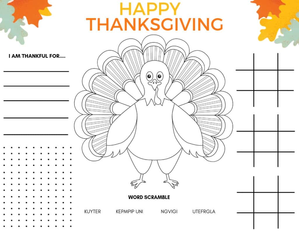 As you're preparing for your holiday meal, consider using free printable placemats as part of your Thanksgiving table.