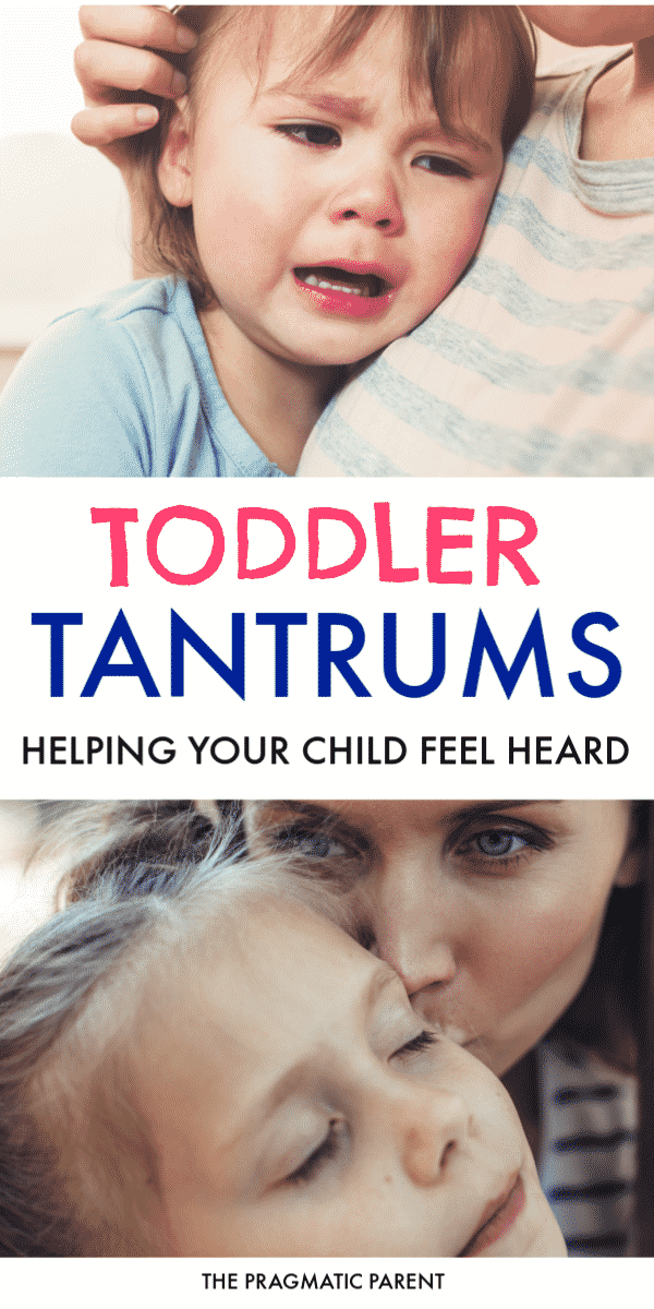 Expert tips for handling toddler tantrums. How to help an overly emotional toddler calm down and feel heard when big emotions take over. #toddlertantrums #toddlertantrum #bigemotions #handlingtoddlertantrums #handlingtantrums #emotionalchild