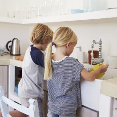 Age appropriate chores teach kids valuable life skills, responsibility, helps them feel capable & confident in their abilities, and forms a sense of pride.
