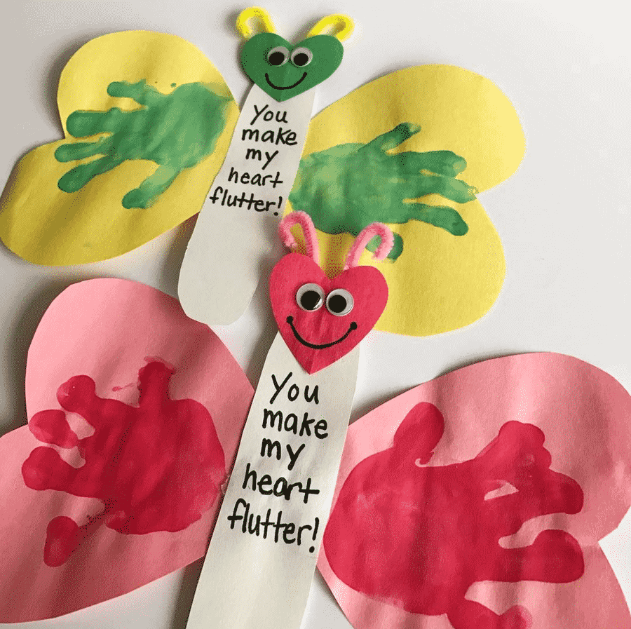 butterfly craft valentines day crafts for toddlers