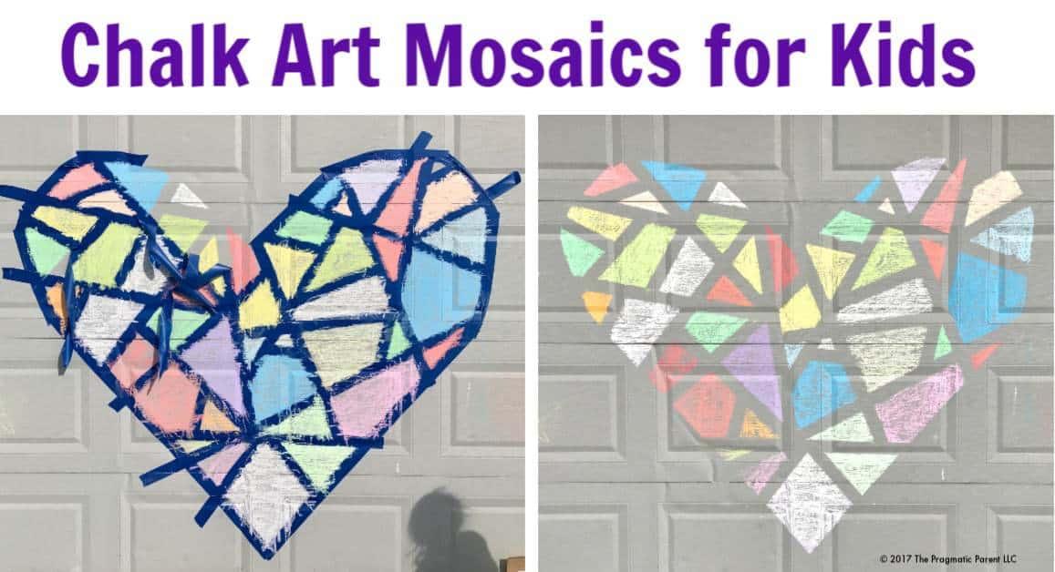 chalk art mosaics for kids