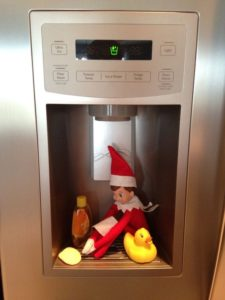 elf in the refrigerator