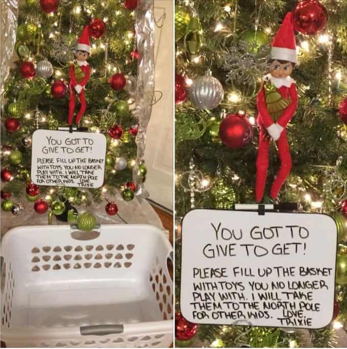 elf on the shelf act of kindness