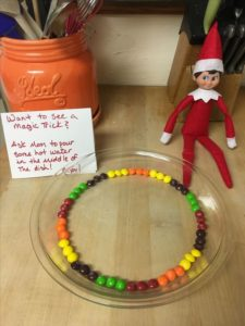 elf on the shelf magic rainbow trick