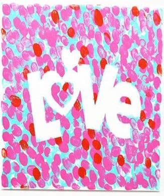 fingerprint love canvas toddler craft valentines day