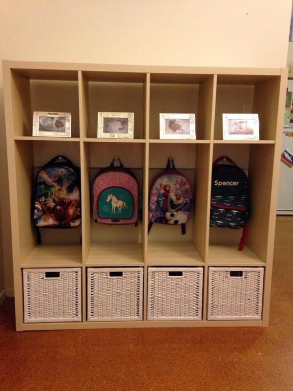 easy backpack and jacket storage for kids