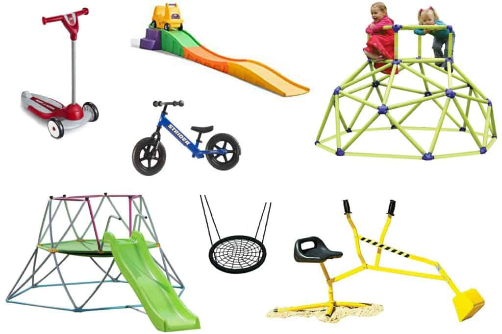 Best Outdoor Toys for kids that can work outside in warm weather, and move inside during colder months. Outdoor toys kids will love to build healthy habits.