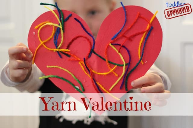 yarn valentine crafts for toddlers